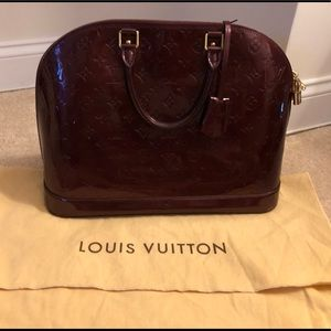 Louis Vuitton large Alma patent leather